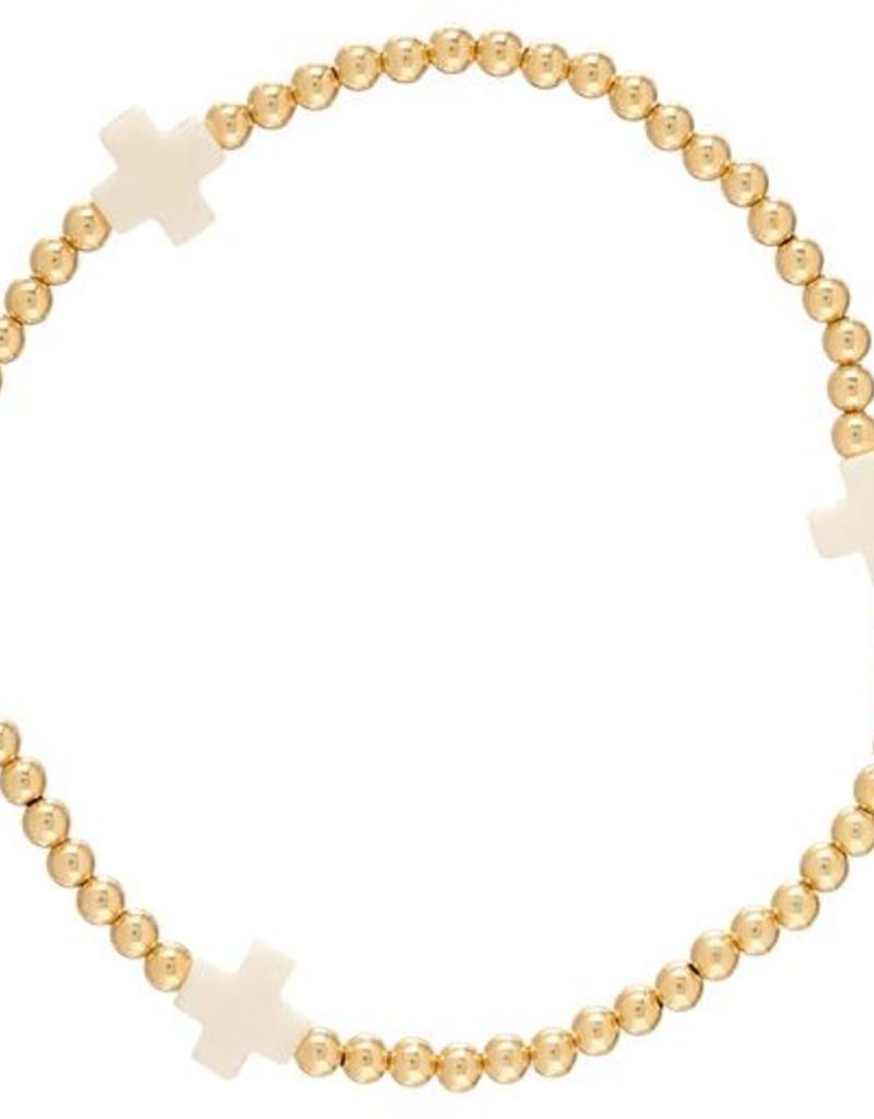 ENewton Design ENewton Designs- Classic Cross 3mm Bracelet
