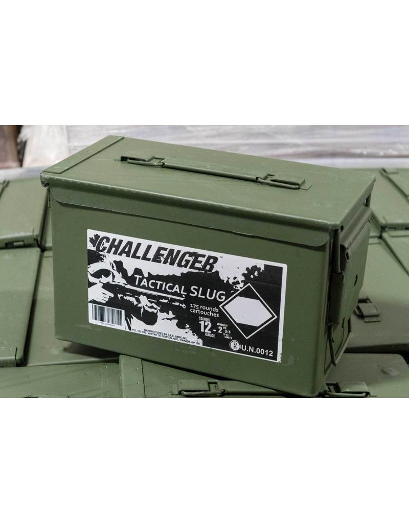 Challenger 12GA Slug 2-3/4″, 1oz, Can of 175