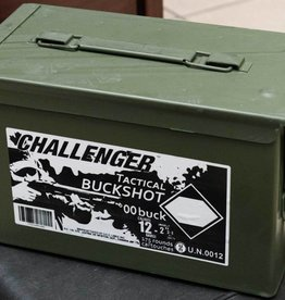 Challenger 00 Buckshot 12 GA 2-3/4″, Can of 175 Rds