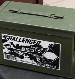Challenger 00 Buckshot 12 GA 2-3/4″, Can of 175 Rds