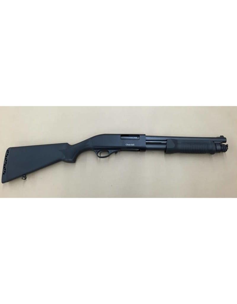 "Churchill Pump Synthetic Shotgun, 12 Gauge, 12"" Barrel, 3"""