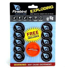 Firebird Firebird AF40QU AirFlash 40 Quiet Exploding Self Adhesive Reactive Targets