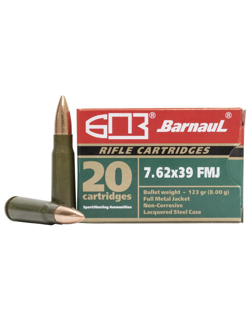Barnaul 7.62x39, 123gr, FMJ, Box of 20