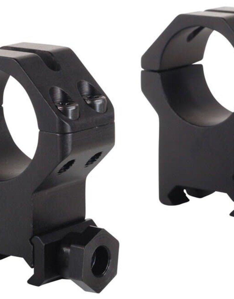 Weaver Tactical 4-Hole Skeleton 30mm Rings Matte Black