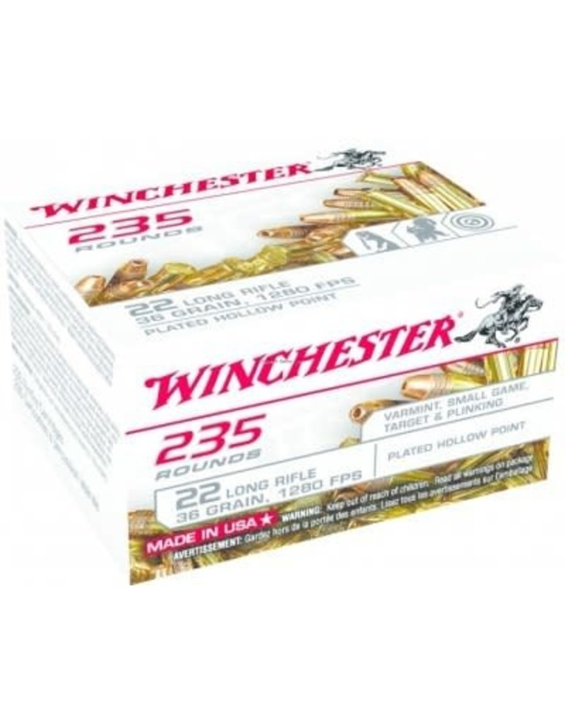 Winchester Winchester 22LR Plated Hollow Point, Box of 235