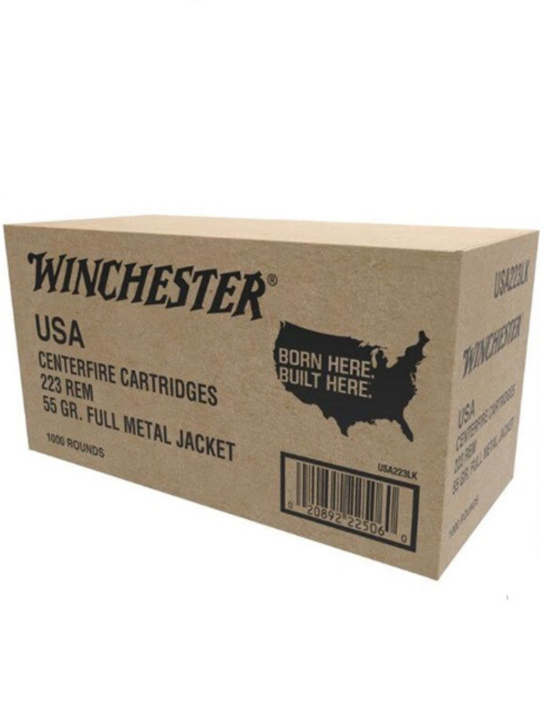Winchester .223 Rem 55gr. FMJ 1000 Rounds Value Pack