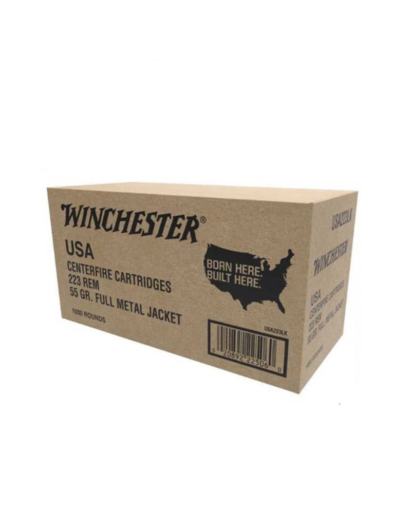 Winchester .223 Rem 55gr. FMJ 1000 Rounds Value Pack