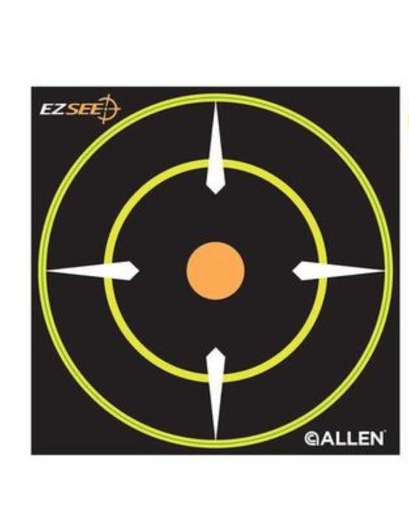 """Allen EZ See Adhesive Bullseye Target, 6"""" x 6"""", Pack of 12"""