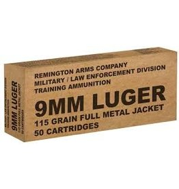 Remington 9mm Luger Ammo 115 Grain FMJ
