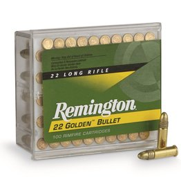 Remington Golden Bullet, .22LR, 40 GR, Plated RN, 100 Round Box