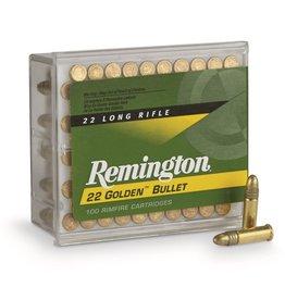 Remington Golden Bullet, .22LR, 40 GR, Plated RN, 100 Round Box