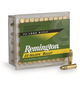 Remington Remington Golden Bullet, .22LR, 40 GR, Plated RN, 100 Round Box