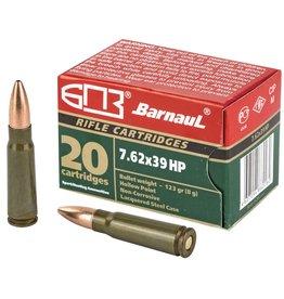 Barnaul 7.62x39, 123gr, HP, Box of 20