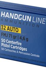 PPU Pistol Ammo 32 Auto FMJ 71gr