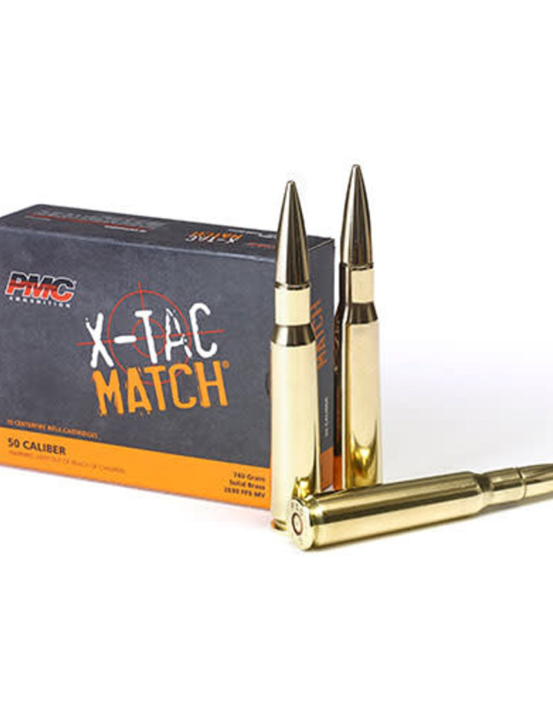 PMC X-TAC Match 50 BMG 770GR Solid Brass 10RDS