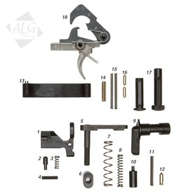 ALG Defence Complete AR15/M4 Mil-Spec Lower Parts Kit with ACT Trigger