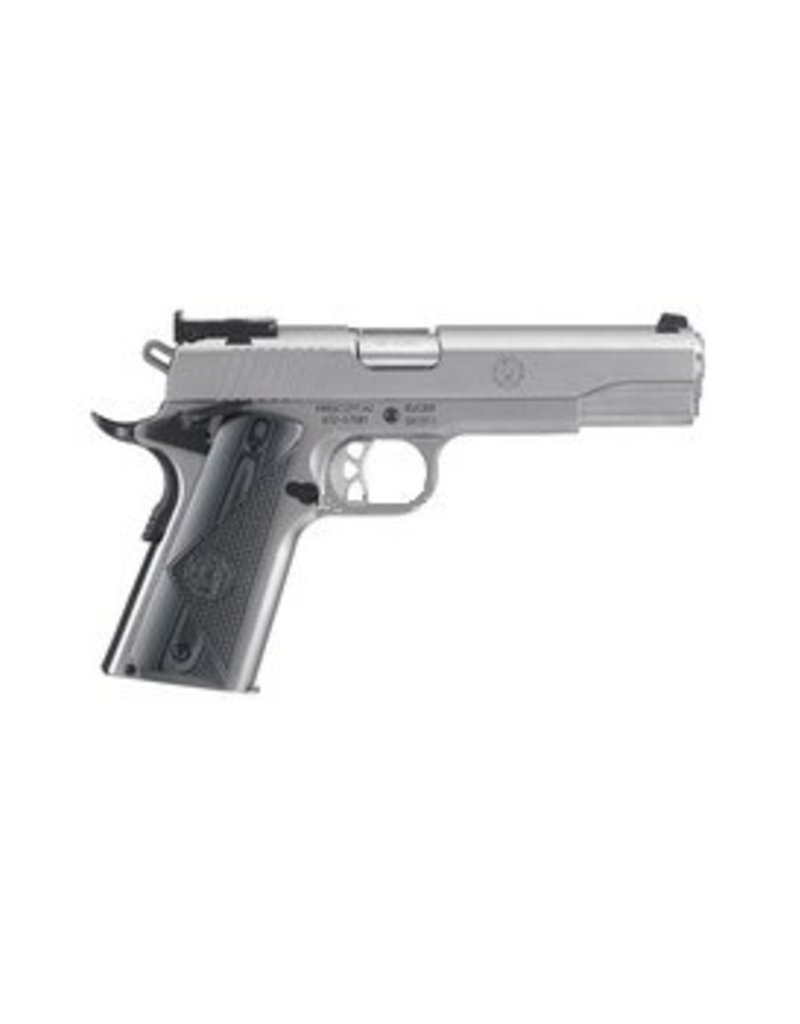 """Ruger SR1911 Target 45 ACP 5"""" Bbl S/S 8rd G10 Grips"""