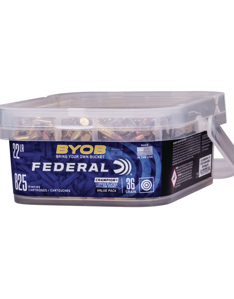 Federal BYOB 22 LR Copper Plated HP 36 Gr 825