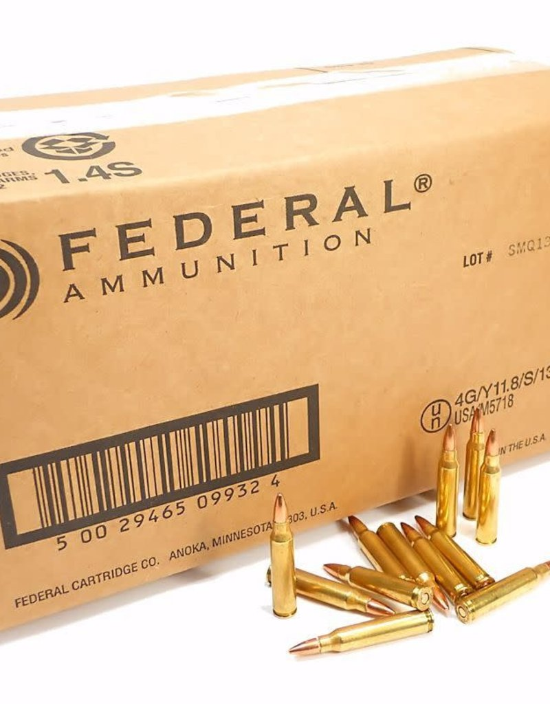 Federal 223 Rem Ammo 55 Grain FMJ 1000rd Case