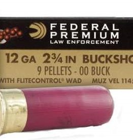 Federal Law Enforcement 12 GA 2 3/4″ 00 Buckshot Low Recoil