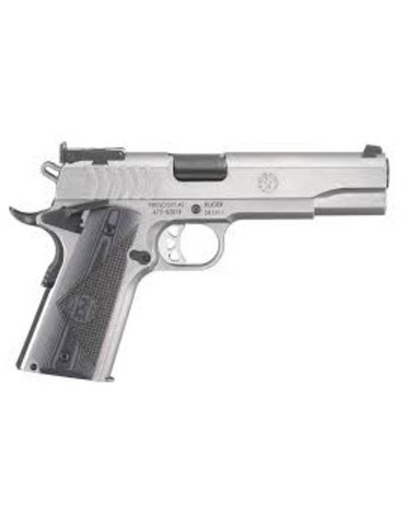"Ruger SR1911 TARGET SEMI-AUTO 9MM 5"" S/S 9RD G-10 GRIPS"