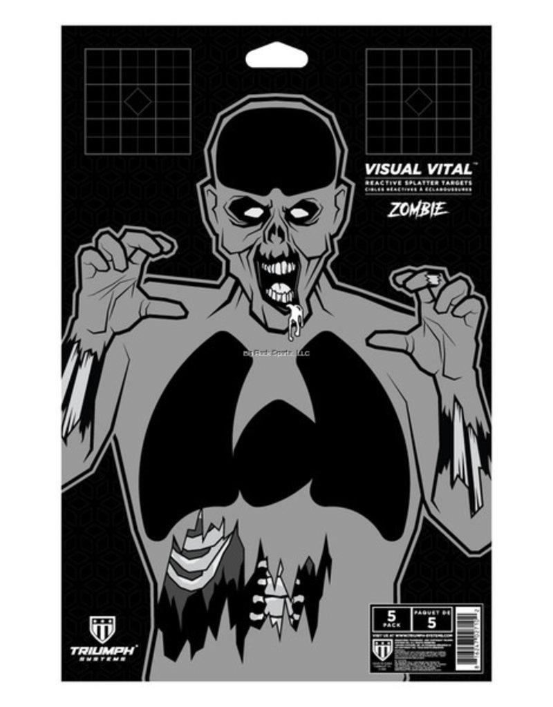 Triumph Visual Vital Target Zombie- 5 Pack