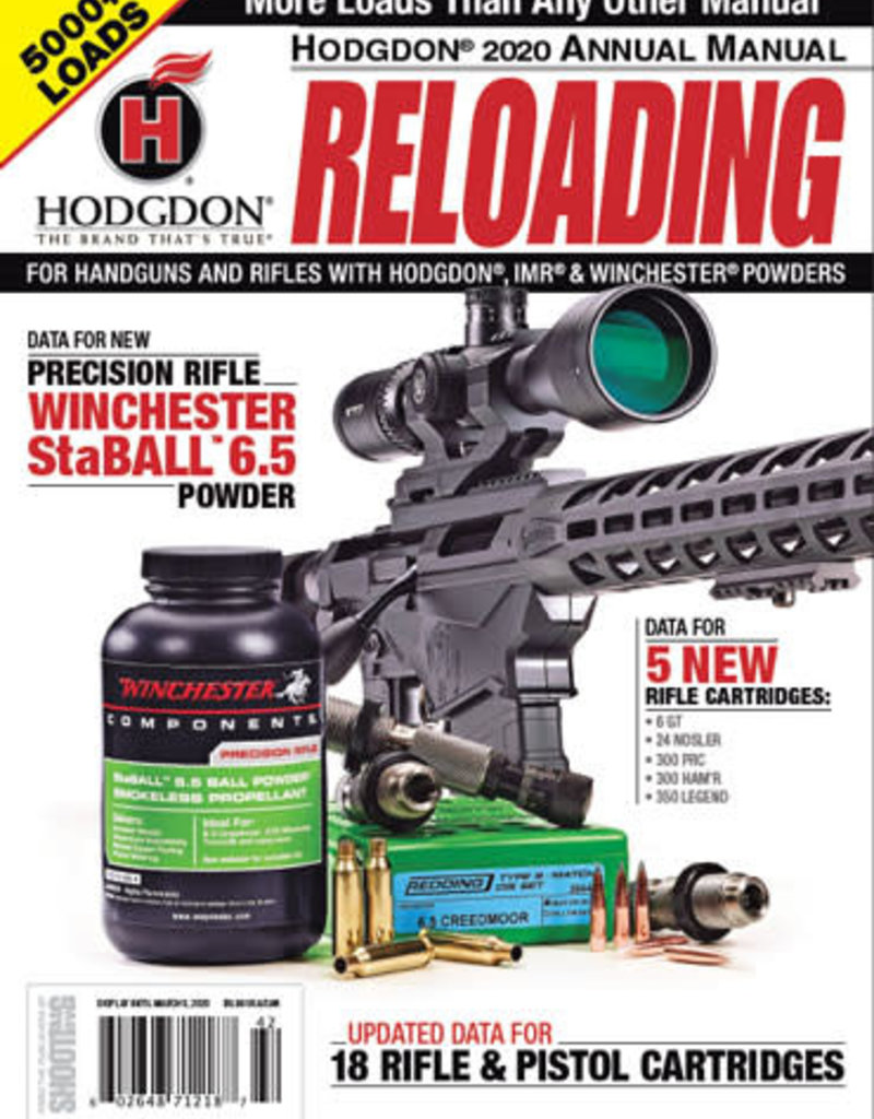 Hodgdon Hodgdon AM20 Reloading Manual 2020