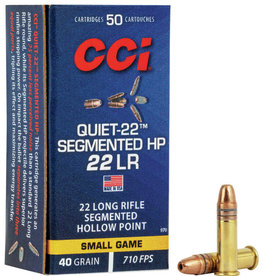 CCI Quiet - .22LR 40gr Segmented HP