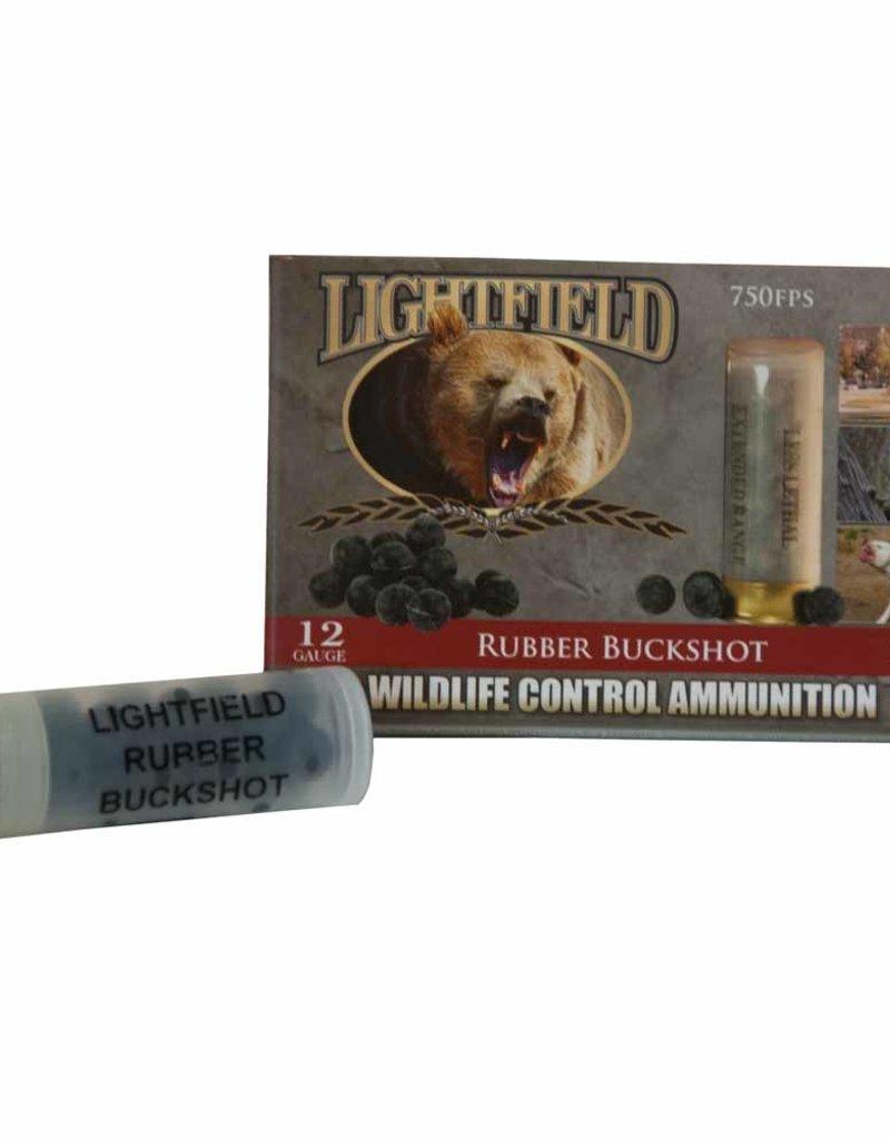 Lightfield CWRB-12 Wildlife Control Rubber Buckshot Slugs 12 GA  2-3/4