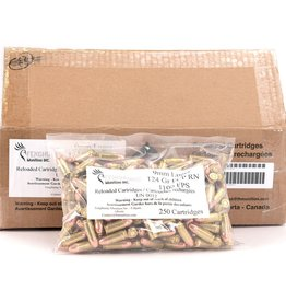 FH Munition Reloaded Ammunition - 9x19mm, 124 gr, FCP RN 1000rds/cs