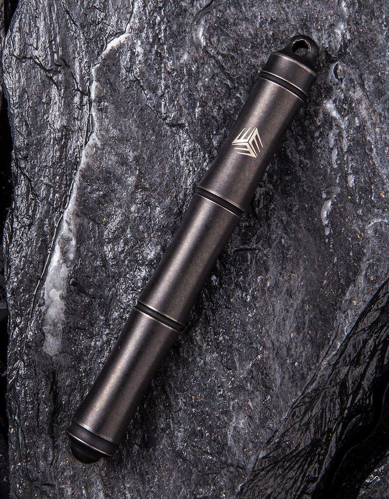 WE Knife TP-04C Syrinx Screw Cap Pen, Black Titanium