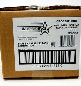 CCI Independence Brass 9mm Luger 115 gr FMJ
