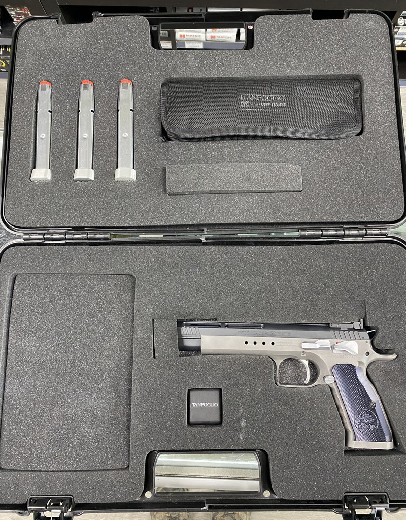 Consignment Tanfoglio Xtreme Gold Match 9mm w/ magazines belt and holster