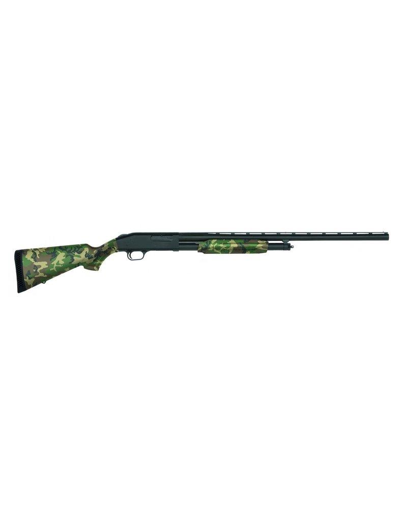 "Mossberg 500 Field Pump Action Shotgun, 12 Ga, 28"" Bbl, US Woodland Camo, 5+1 Rnd"