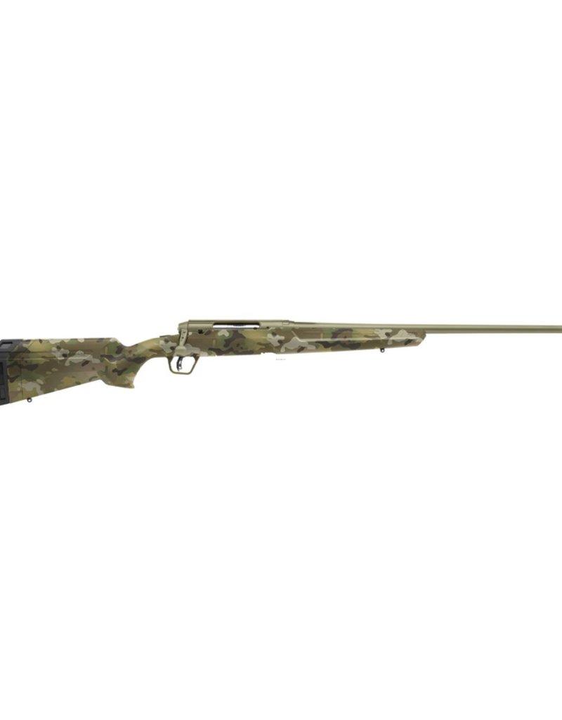 """Savage Axis II Bolt Action Rifle, 6.5 Creedmoor, 22 """" Bbl, Black, Bazooka Green Synthetic Stock, 4+1"""
