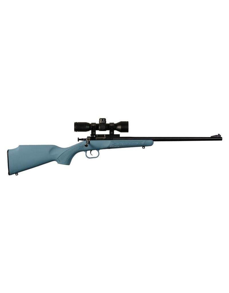 Keystone Crickett Bolt Rifle 22 LR, Blue Syn w/Scope