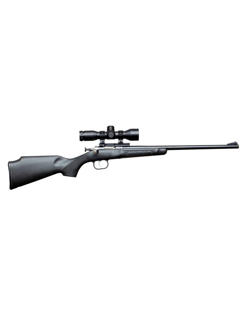 Keystone Crickett Bolt Action Youth Rifle Package w/Rifle Black, Scope, 22 LR Blued