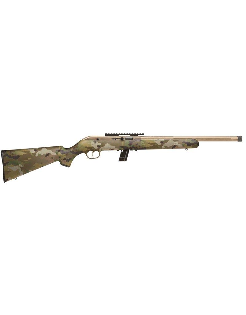 "Savage 64 FV-SR Semi-Auto Rifle, 22 LR, 16.5"" Fluted Bbl, Threaded, Desert Sage Synthetic Stock, 10+1 Rnd"