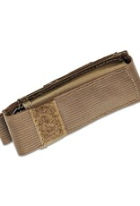 "Benchmade Adamas Folding Knife 3.78"" CruWear FDE Plain Blade, ODG G10 Handles, Ballistic Nylon Sheath"