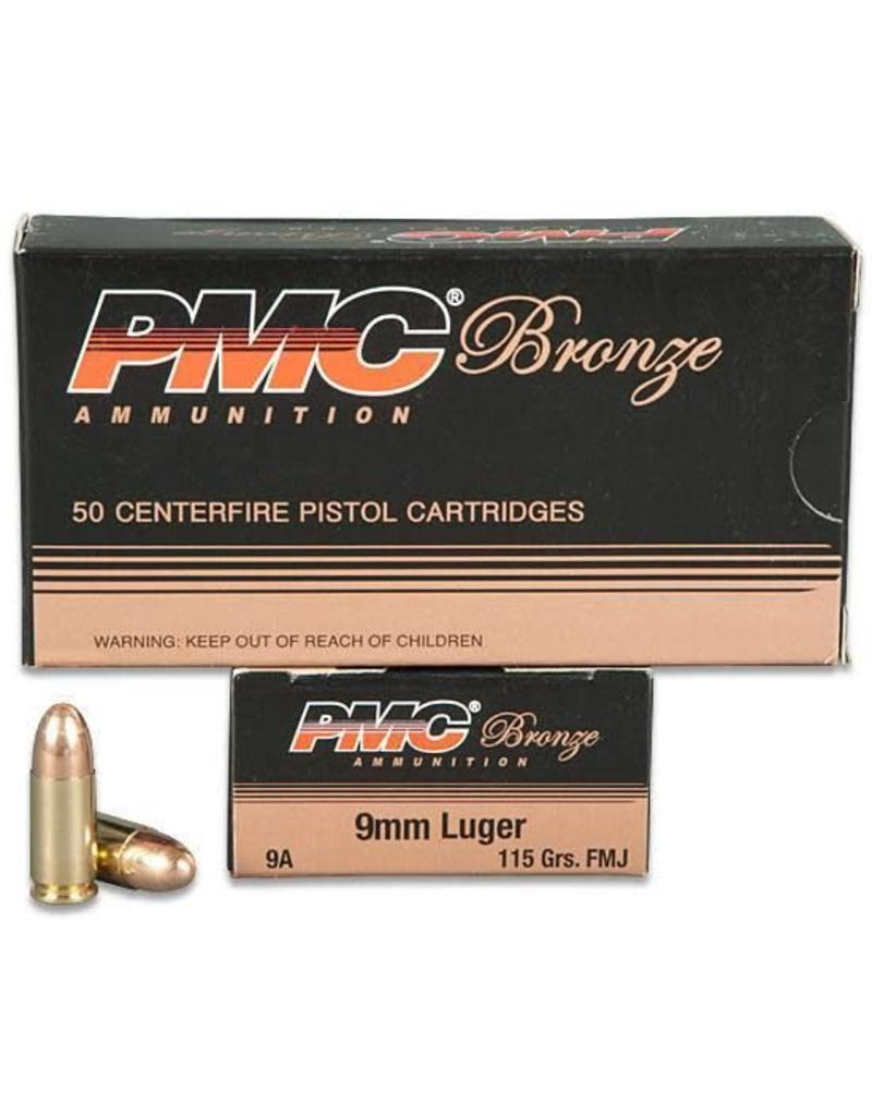 PMC Ammunition 9mm Luger Bronze FMJ, 115 Grain