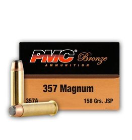PMC Ammunition 357 Magnum Bronze JSP, 158 Grain