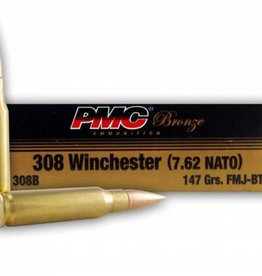 PMC Ammunition 308 Win. Bronze FMJBT, 147 Grain