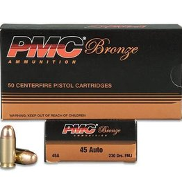 PMC Ammunition .45 ACP Bronze FMJ, 230 Grain