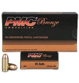 PMC Ammunition .45 ACP Bronze FMJ, 230 Grain