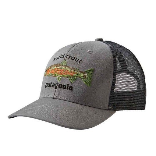 Patagonia Patagonia World Trout Fishstitch Trucker Hat - Royal ... c73e578f1a5