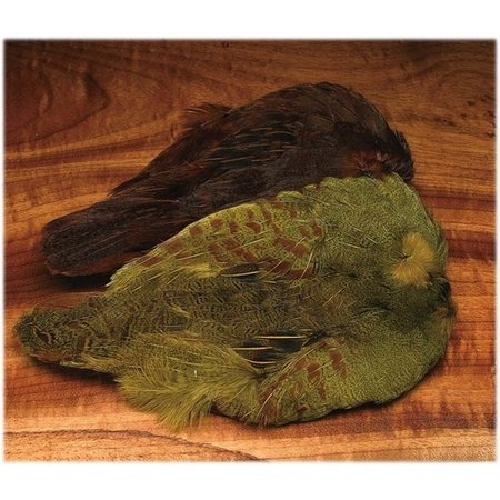 Hungarian Partridge Skin Dyed Olive