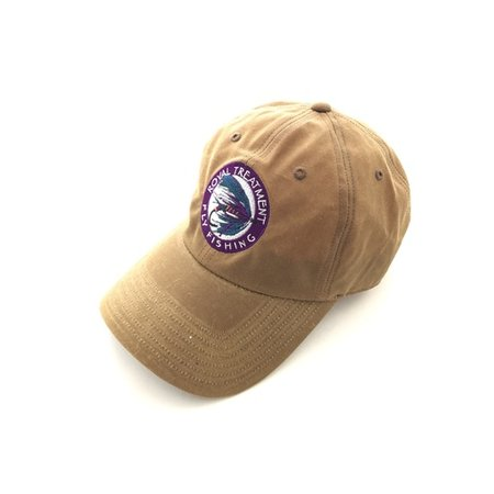 RTFF Logo Cascadia Waxed Cotton Cap, Dark Elkhorn