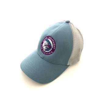 RTFF Logo Trucker Cap, Blue Stream