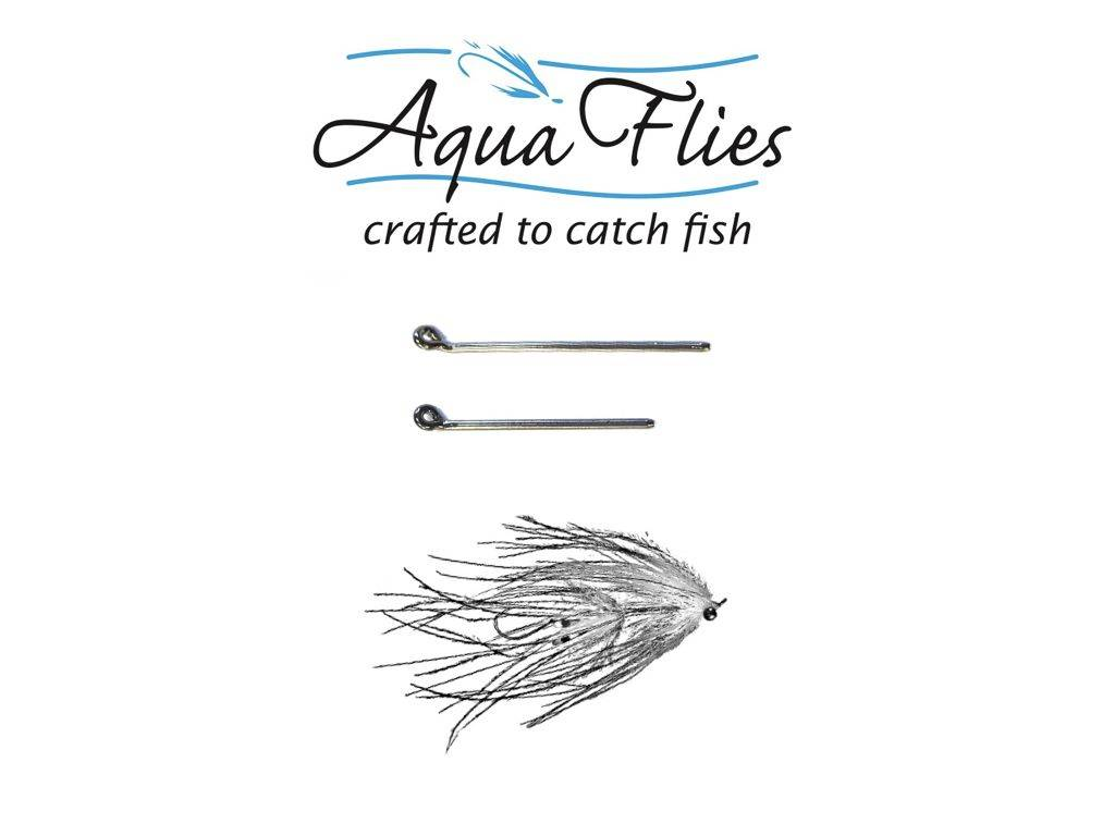 Aqua Flies Round Eye Shank