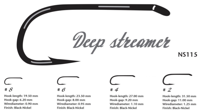 Ahrex nordic salt deep streamer hook